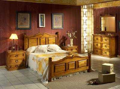 Ideas en decoraci n con muebles r sticos para interiores vida ok - Lamparas para dormitorios rusticos ...