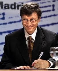 Bill Gates también es zurdo.