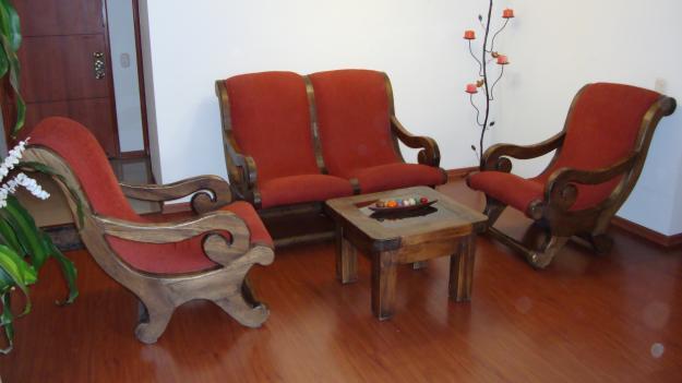 Ideas en decoraci n con muebles r sticos para interiores for Sillones rusticos de madera
